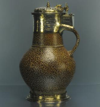 Cruche en grès montée en orfèvrerie, Frechen et Londres, 1566