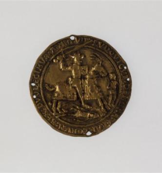Louis XII à cheval en vainqueur à Gênes