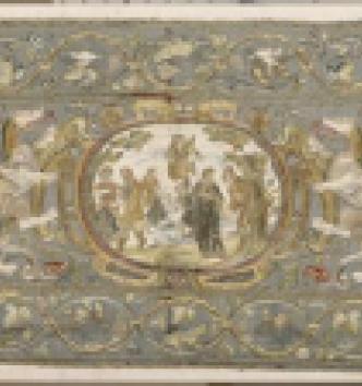 Panneau à décor de rinceaux, atelier français, vers 1560