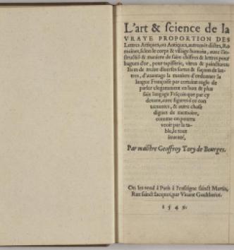 Geoffroy Tory, Champ Fleury, 1549