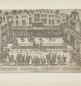 La Mort du roy Henri II aux Tournelles à Paris le 10 juillet 1559, Jean Perrissin et Jacques Tortorel, 1570