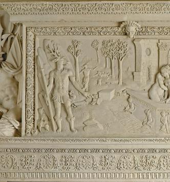 Diane et Actéon, cheminée, Châlons-en-Champagne, vers 1567