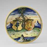 Assiette aux armes des Hopfer et Ayer, Venise, 1560-1570