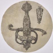 Modèles de deux garnitures d'épées, Pierre Woeiriot, après 1555