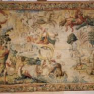 Tapisserie : Histoire de Phaéton : La chute du char du soleil mené par Phaeton