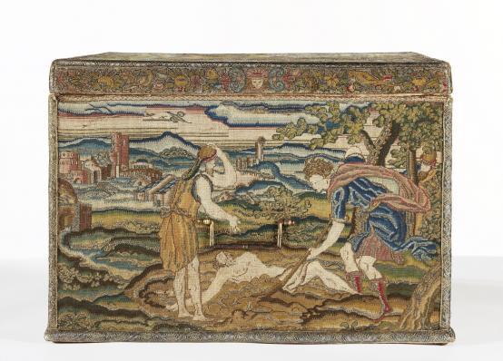 Moïse enterrant l'Egyptien qu'il vient de tuer parce qu'il frappait un Hébreu