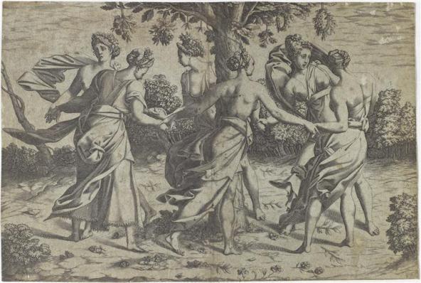 Danse des Dryades, Pierre Milan, d'après Rosso Fiorentino