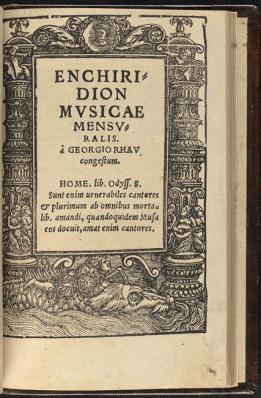 Enchiridion utriusque musicae practicae, Georg Rhau, 1538