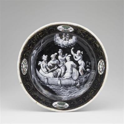 Assiettes des douze mois de l'année à l'emblème d'Horace Farnèse : Mai, Jean II Pénicaud