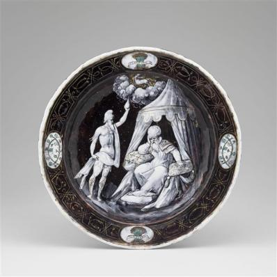 Assiettes des douze mois de l'année à l'emblème d'Horace Farnèse : Novembre, Jean II Pénicaud