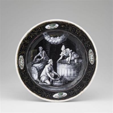 Assiettes des douze mois de l'année à l'emblème d'Horace Farnèse : Septembre, Jean II Pénicaud