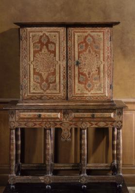 Cabinet en maroquin, Paris, vers 1630