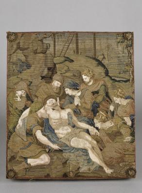 La Déploration du Christ, corporalier, France, vers 1550