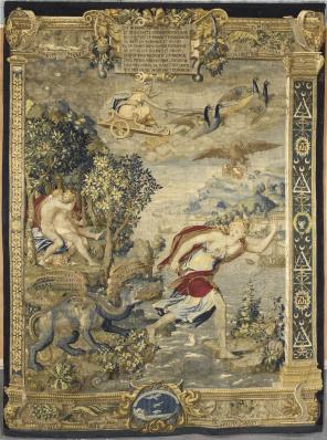 Tenture de Diane de Poitiers, Jupiter et Latone, milieu du 16ème siècle