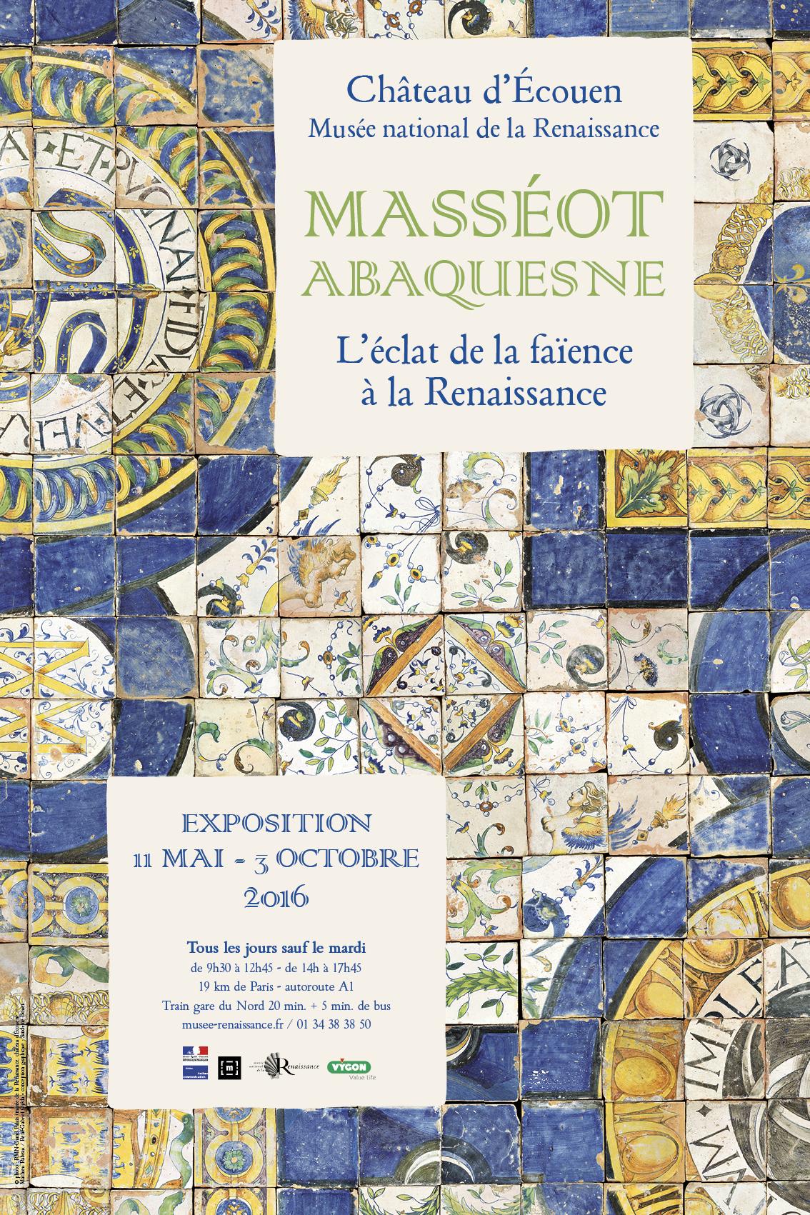 Affiche exposition Masséot Abaquesne 2016